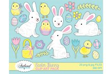 Easter Bunny Chick Egg Clipart Pack