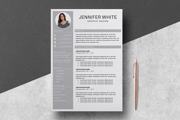 Resume Template 4 Pages Jennifer