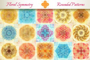 15 Floral Symmetry Patterns. Set #4