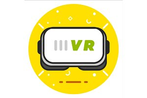 Virtual reality headset icon