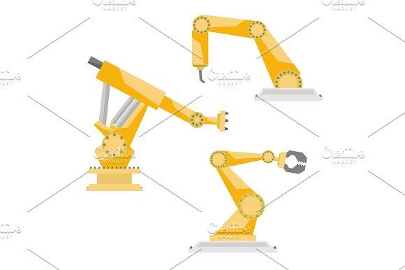 Industrial Robots Vector Set