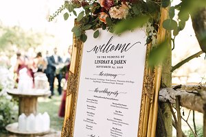 Wedding Program Welcome Sign