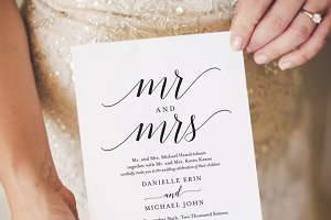 Mr & Mrs Wedding Invitation Template