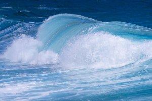 Frozen motion of ocean waves off Hawaii