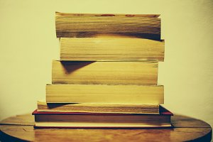 Stack of Books in Colour