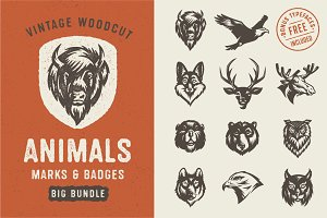 Animals Marks & Badges Bundle