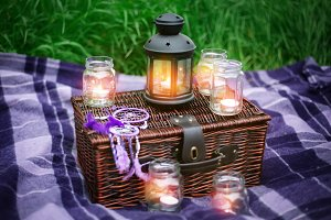 Romantic composition with candles