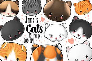 Kawaii Cats Clipart