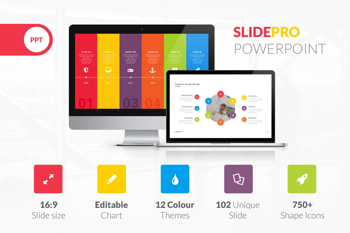 SlidePro Powerpoint Presentation ~ Presentation Templates ~ Creative ...
