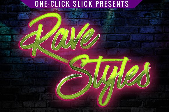 Glossy Rave Styles For Photoshop