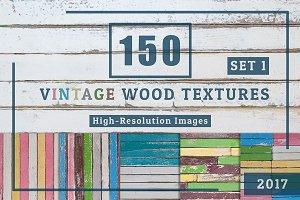 150 Vintage Wood Textures Set1