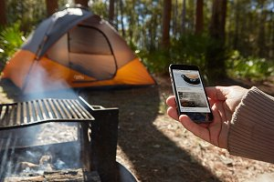 Camping Collection iPhone & Tent PSD