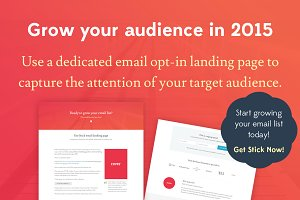 Stick Email Opt-in Landing Page