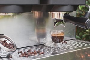 Espresso and coffee machine