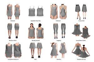 Feminine Sublimation Dress Mockup