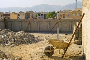 Tehran construction site, Iran