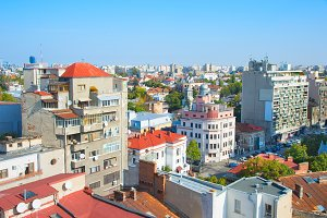 Bucharest cityscape, Romania