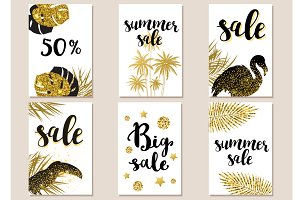 Golden summer tropical backgrounds