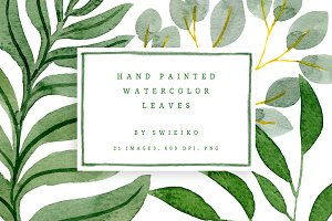 Watercolor Foliage set
