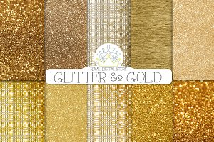 GOLD GLITTER digital textures