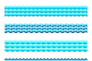 Seamless blue water bands set