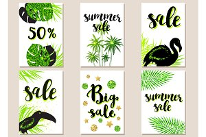 Green summer tropical backgrounds