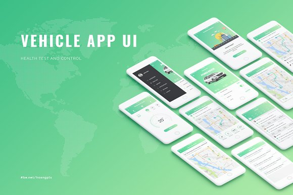 Vehicle App UI Concept