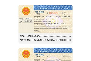 Vietnam visa passport stamp