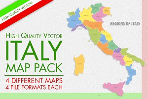 Vector Italy Map Pack
