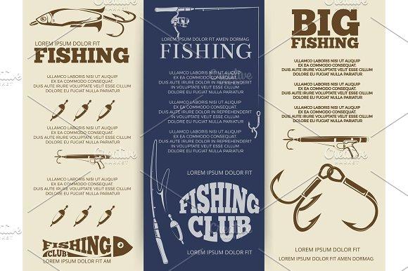 Fishing Brochure Or Banners