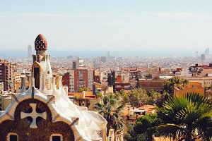 View on Barcelona from Gaudi Park