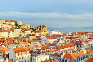 Lisbon Old Town view, Portugal
