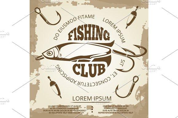 Vintage Grunge Fishing Poster
