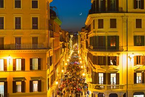 Rome Old Town street, Italy