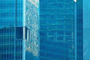 Glass walls of Skyscrapers