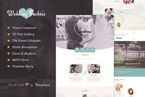 Wedding Fuchsia - WordPress Theme