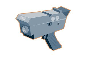 mobile speed camera radar gun retro