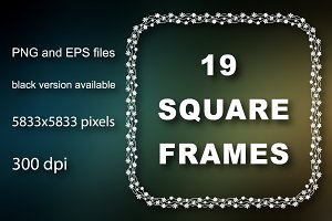 19 square digital frames