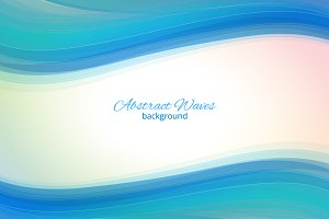 Business blue waves background