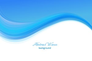 Blue business waves background