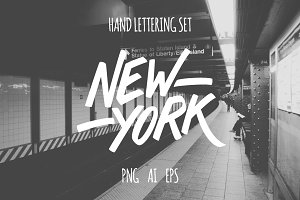 New York lettering set.