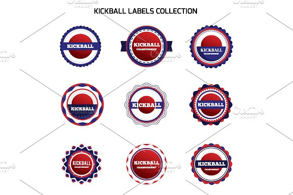 Kickball Labels And Badges