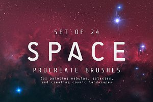 Space Procreate brushes - Set of 24