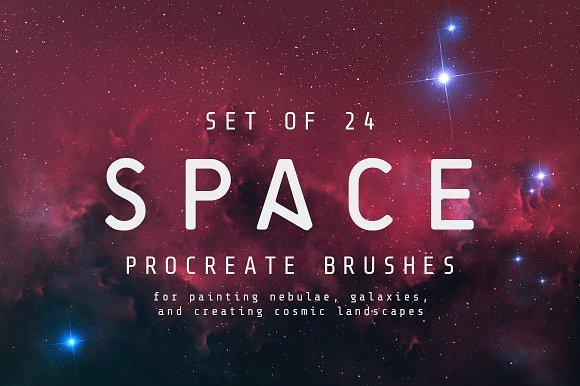 Space Procreate Brushes Set Of 24