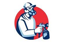 Spray Painter Spraying Paint Gun Ret