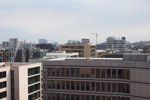 Hamburg skyline view