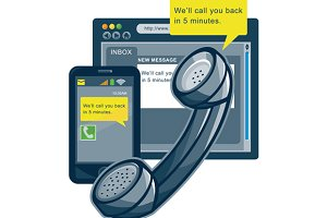 Telephone Smartphone Website Call Ba