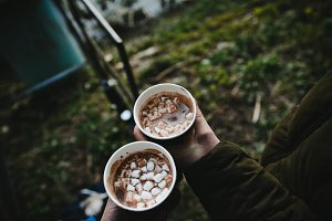 Cocoa in the hands of a loved one