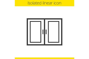 Kitchen cabinet linear icon