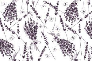 Seamless lavender pattern